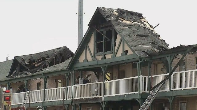 Dozens Displaced By Tulsa Motel Fire