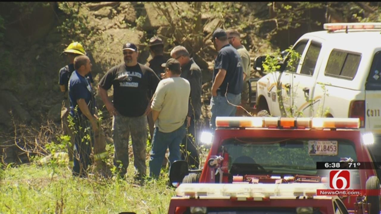 OHP: Pickup Crashes Into Caney River South Of Bartlesville