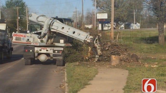 Gary Kruse: Trucks Picking Up Tornado Debris In North Tulsa