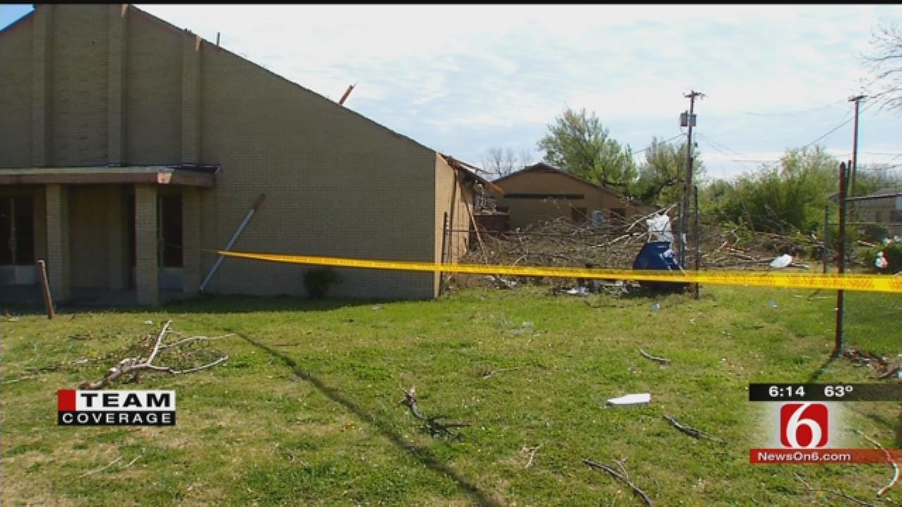 Tornado Damages Church, Power Lines In North Tulsa