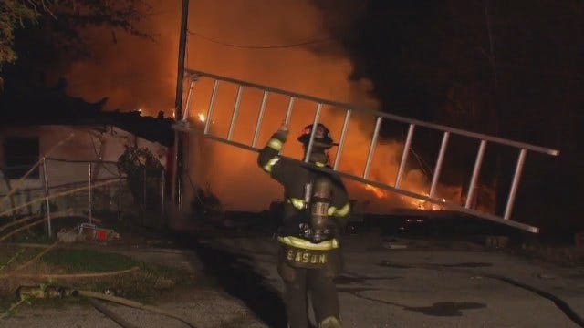 WEB EXTRA: Scenes From Sapulpa-Area House Fire