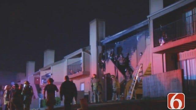 Dave Davis Reports On Ridgemont Apartment Fire In Tulsa