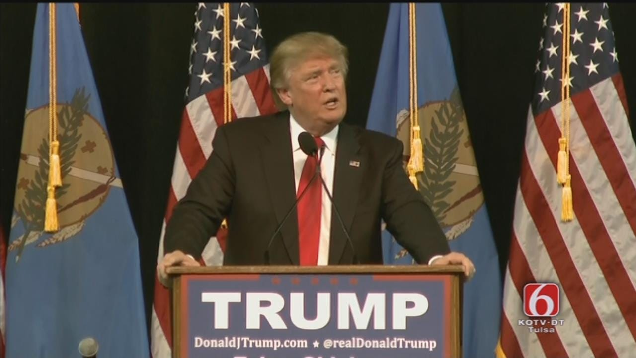 WEB EXTRA: Donald Trump Speaks At Mabee Center Part 4