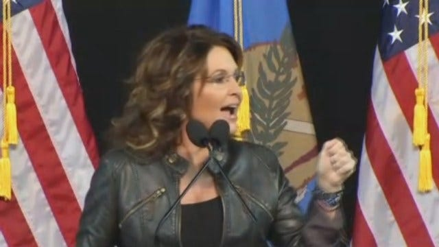 WEB EXTRA: Sarah Palin Speaks At Mabee Center Part 2
