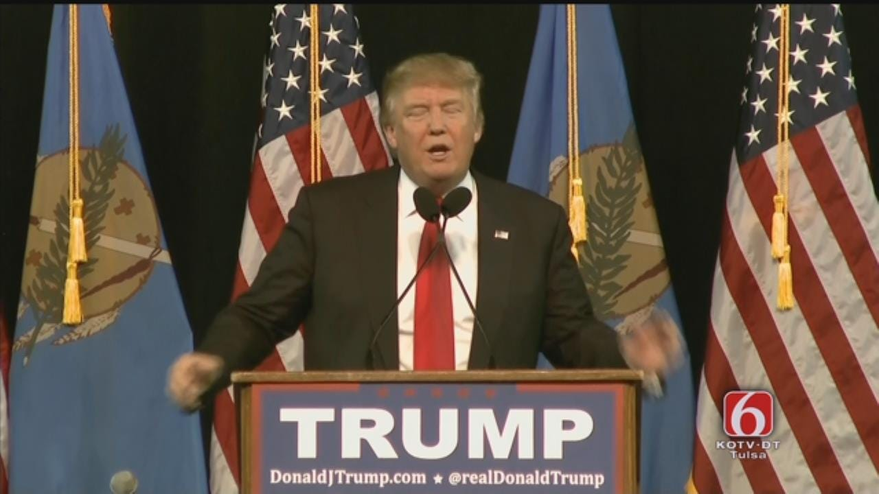 WEB EXTRA: Donald Trump Speaks At Mabee Center Part 2