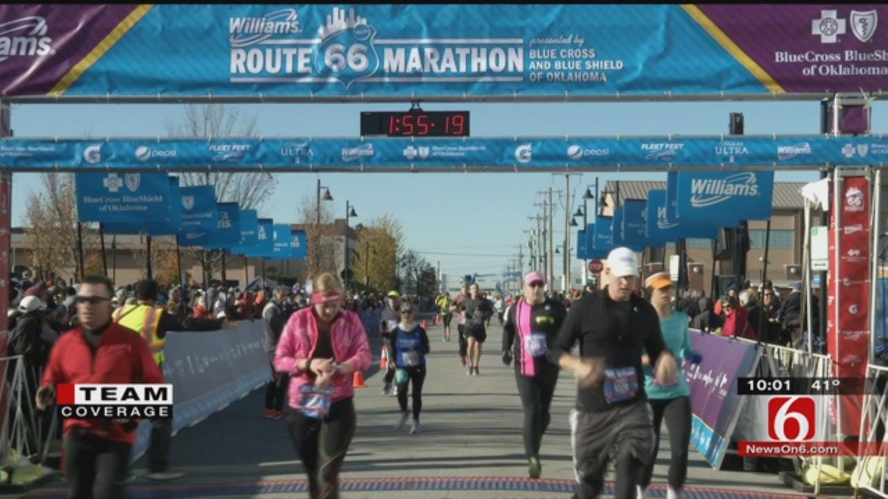 Thousands Cross The Finish Line At Tulsa Route 66 Marathon