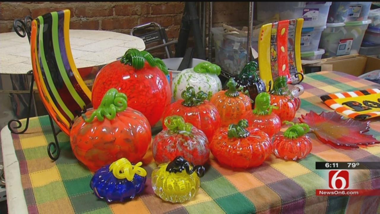 Tulsa Glass Artists Put Unique Twist On Pumpkin Patch