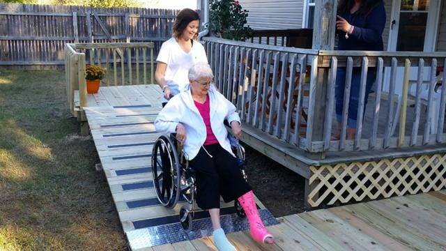 Owasso Home Depot Workers Built Ramp For Injured Woman
