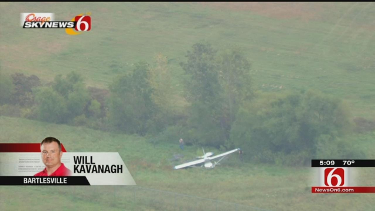 WEB EXTRA: Osage SkyNews 6 HD Over Bartlesville Plane Crash