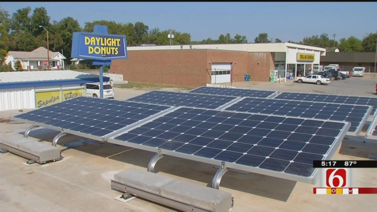 Sapulpa Solar-Powered Laundry Picking Up Steam