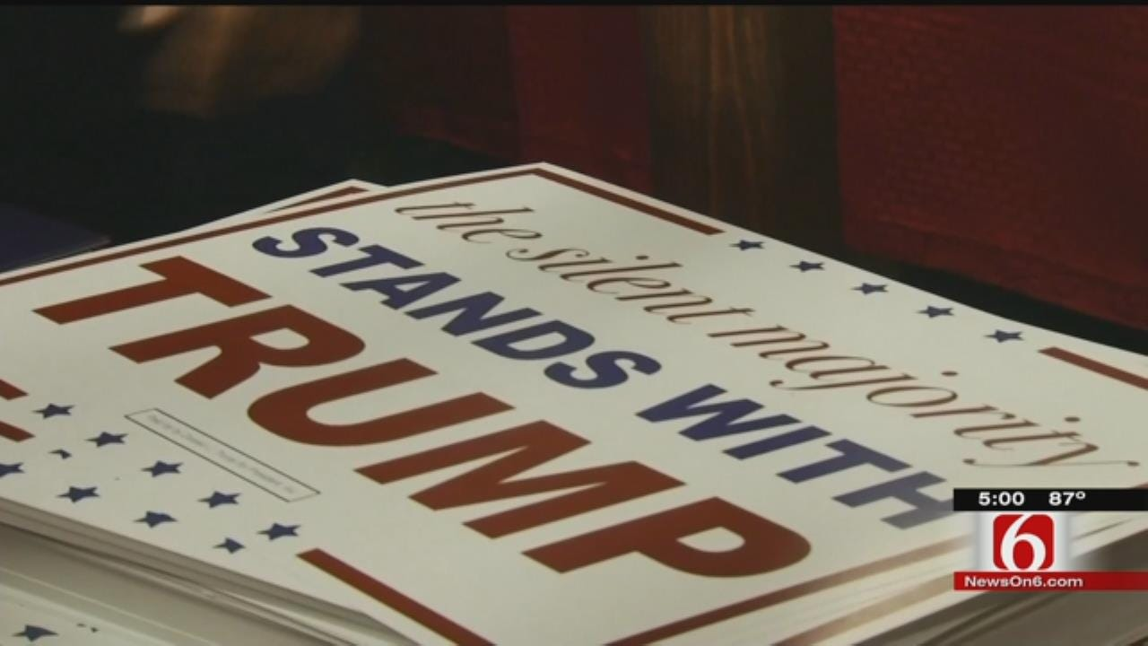 Supporters Flock To Hear Donald Trump Speak In Oklahoma City