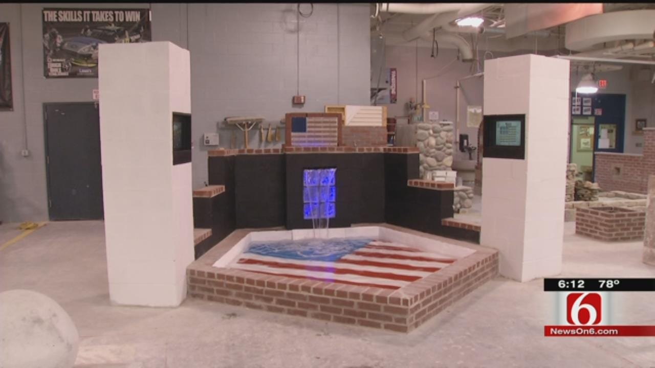 Tulsa Tech Students Build 9/11 Tribute Wall