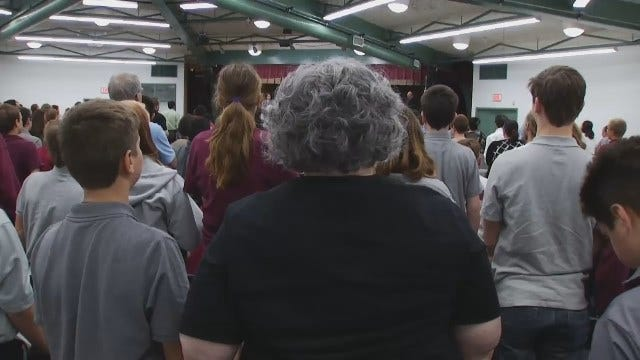 WEB EXTRA: Naturalization Ceremony At Tulsa's Town And Country School