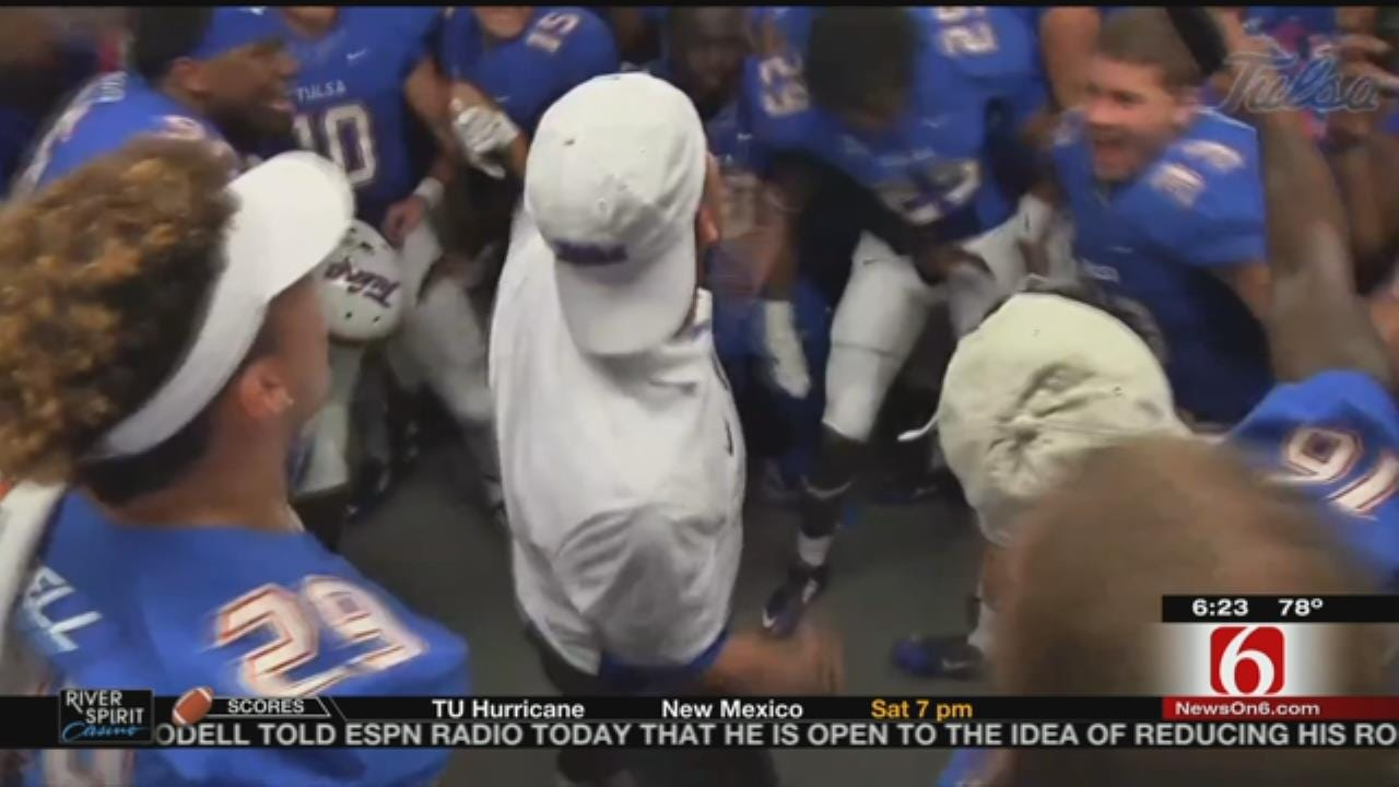 After Dramatic Win, TU's Locker Room Celebration Goes Viral