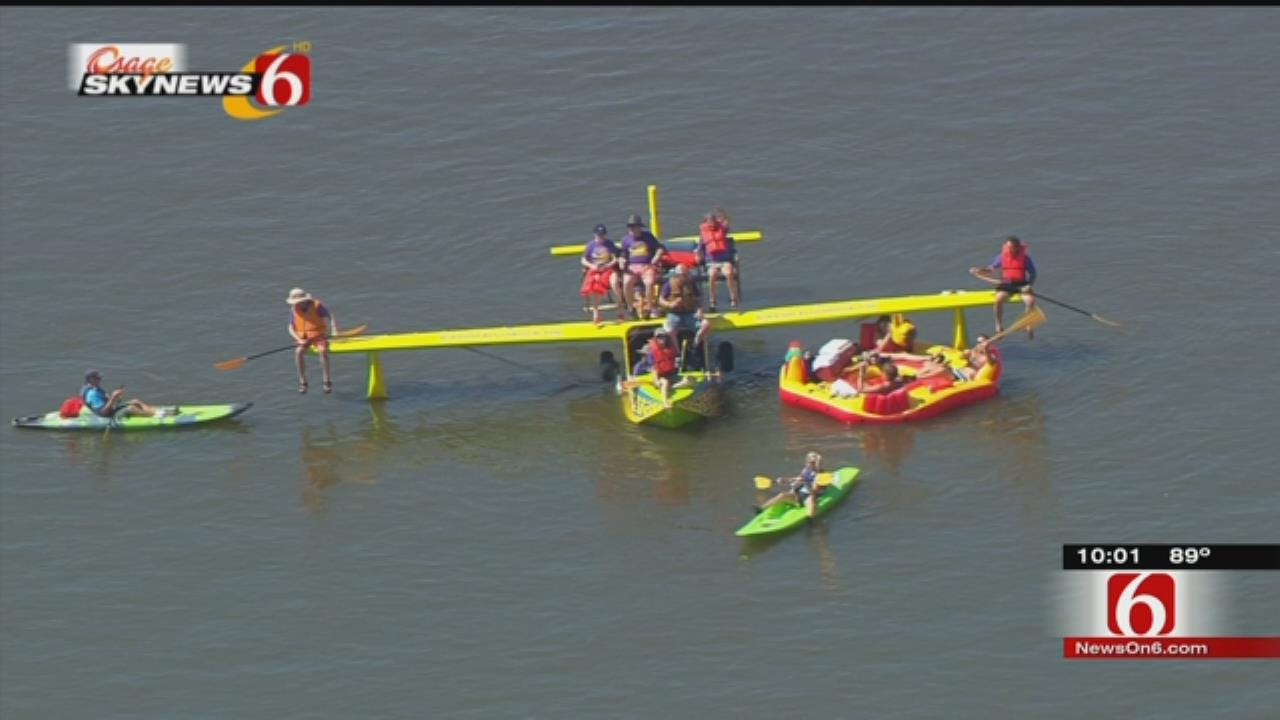 Seaplane Turns Heads At Successful Great Raft Race Return