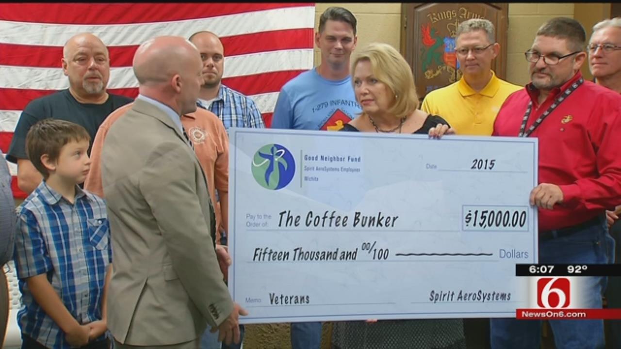 Spirit Aerosystems Donates To Tulsa Coffee Bunker Cause