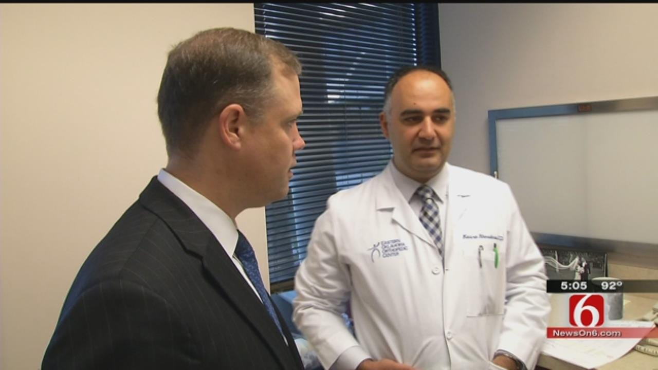 Bridenstine Talks With Doctors About Patient Insurance Concerns