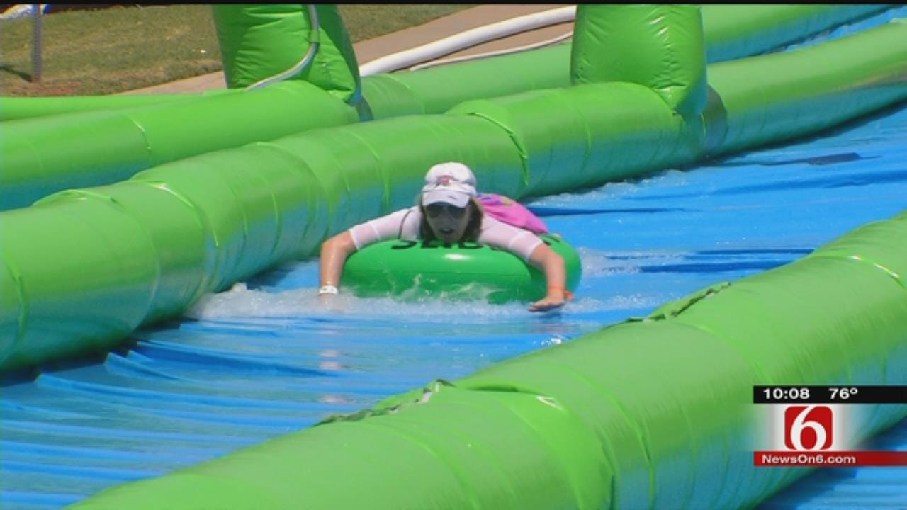 Tulsans To Slip-And-Slide The City To Help Charity