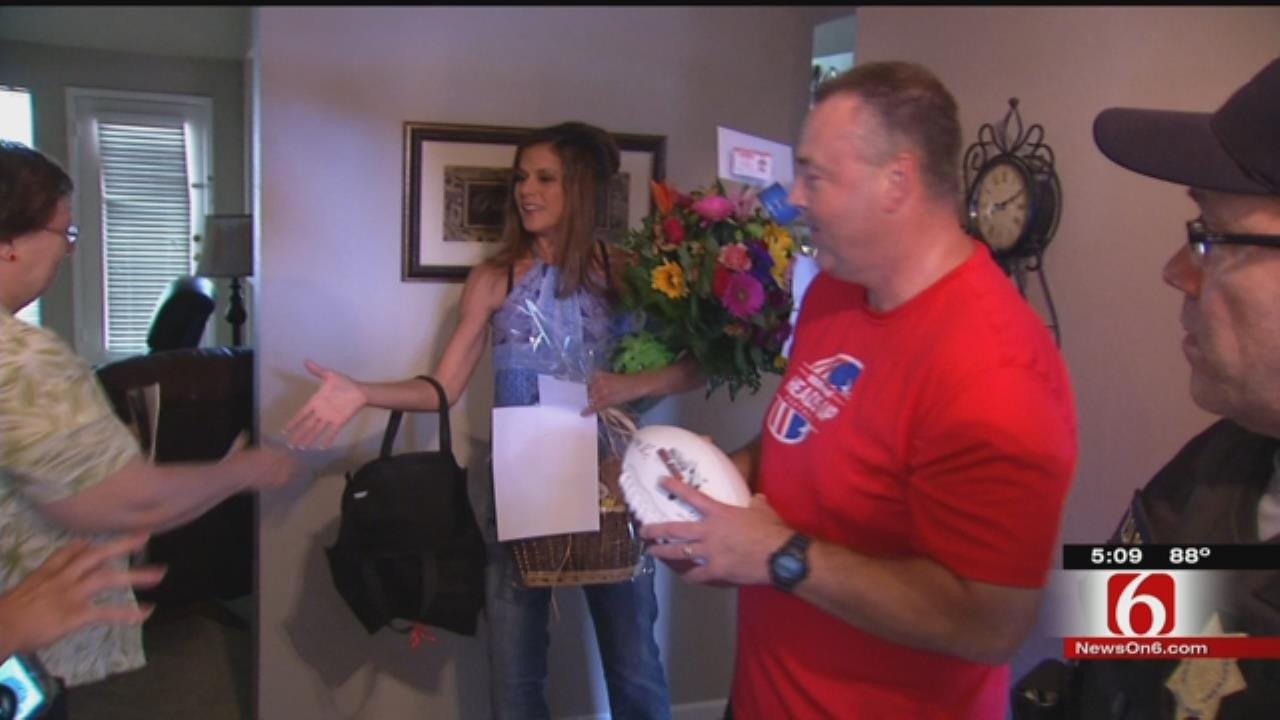 Community Donates Goods To Recovering Tulsa Police Corporal