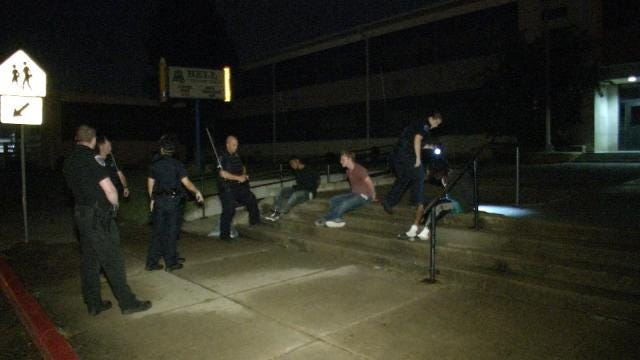 WEB EXTRA: Three Arrested Breaking Into Tulsa School