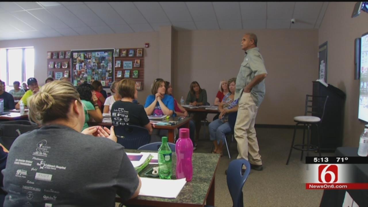 Sapulpa Teachers Participate In Mental Self-Defense Class