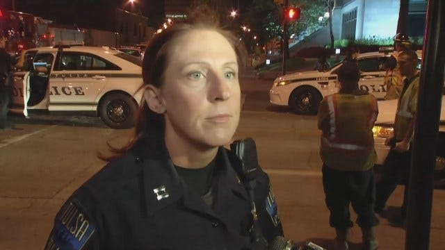 WEB EXTRA: Tulsa Police On Downtown Pursuit, Crash