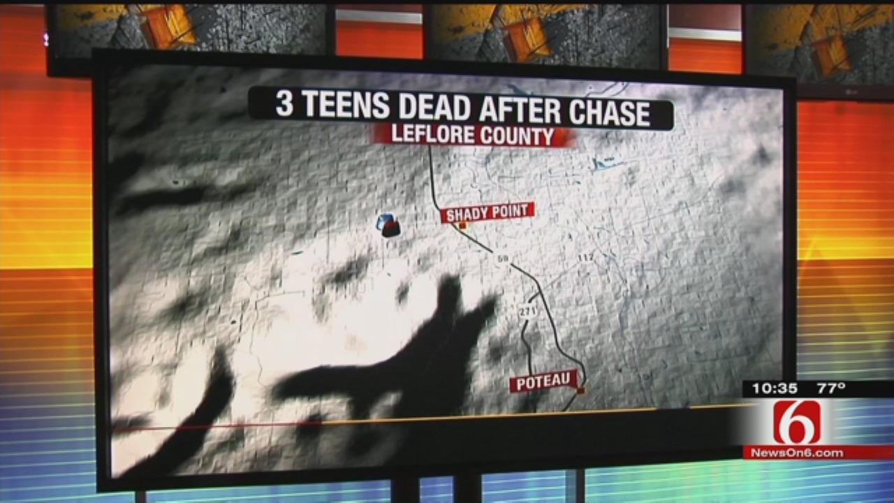 3 Teens Dead In Leflore County High-Speed Pursuit