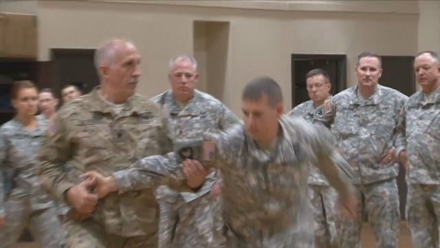 Oklahoma Guardsmen Train To Carry Weapon On Job