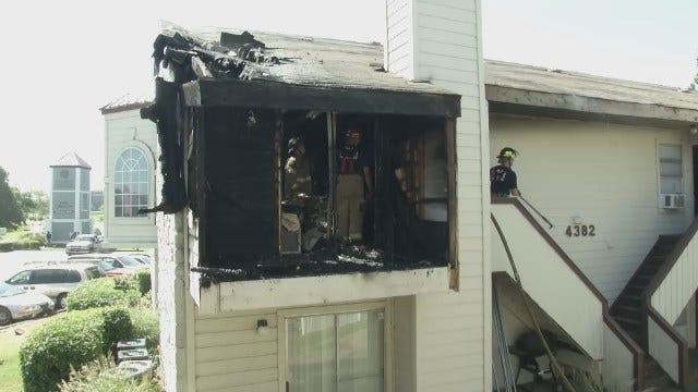WEB EXTRA: Families Displaced In Tulsa Apartment Fire
