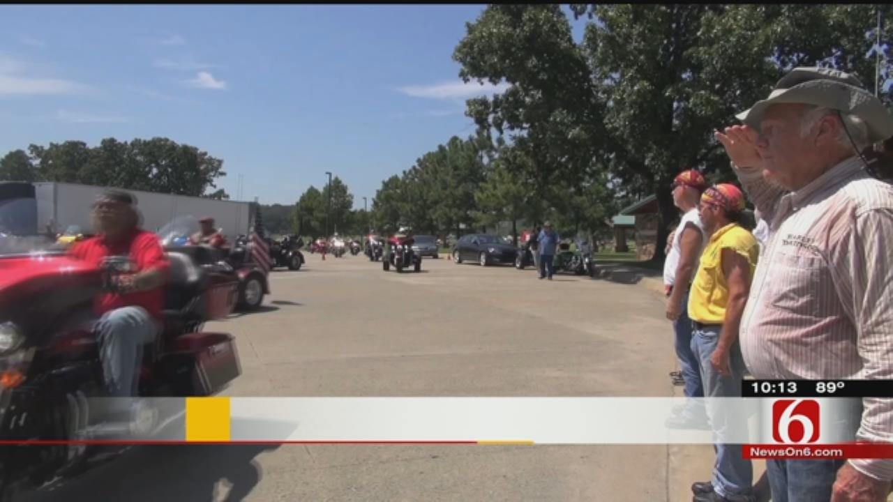 Oklahoma Patriot Guard Escorts Marine's Ashes On Trip Home To Georgia