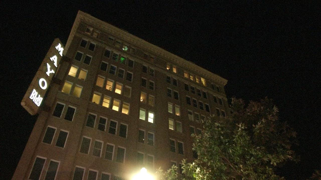WEB EXTRA: Fire And Sprinkler System Flooding Damage Mayo Building In Downtown Tulsa