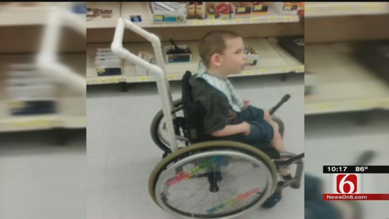 Sapulpa Hardware Store Manager Improvises Help For Disabled Boy