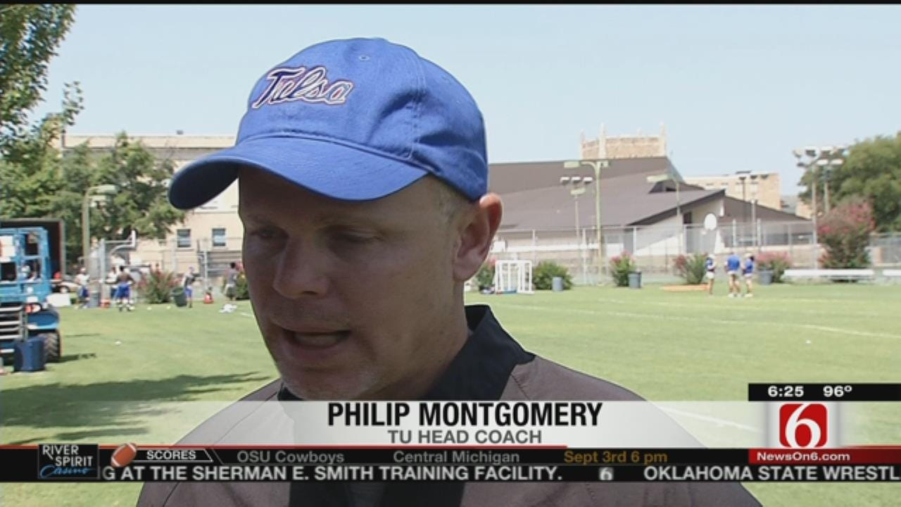 TU Football: Golden Hurricane Adjust To Montgomery's Fast-Paced Style At First Practice