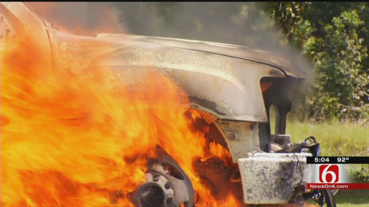 News On 6 Crew, Neighbors Put Out Hallett Truck Fire