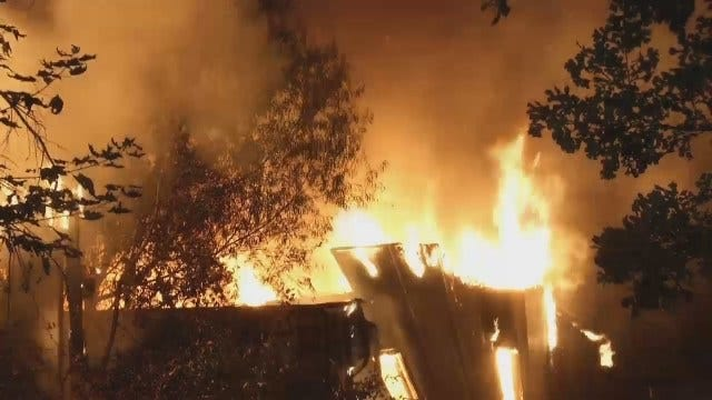 WEB EXTRA: Video Of Sand Springs House Fire