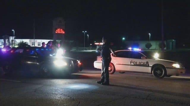 WEB EXTRA: Wagoner Patrol Car Hits Pedestrian On Highway 51