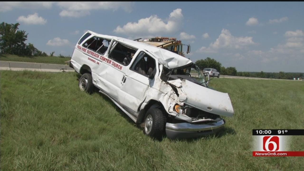 5 Released From Hospital After Church Van Wrecks On Will Rogers Turnpike