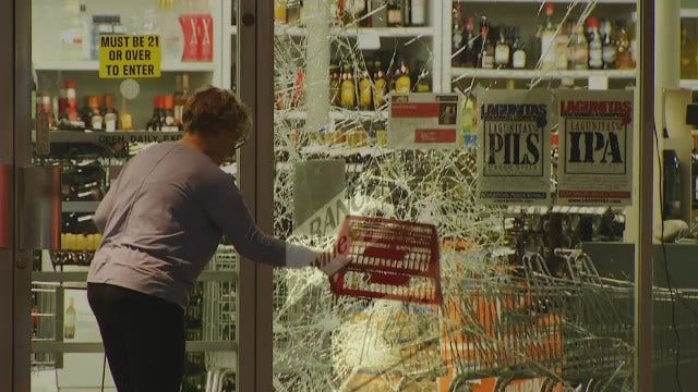 WEB EXTRA: Video From Scene Of Midtown Tulsa Liquor Store