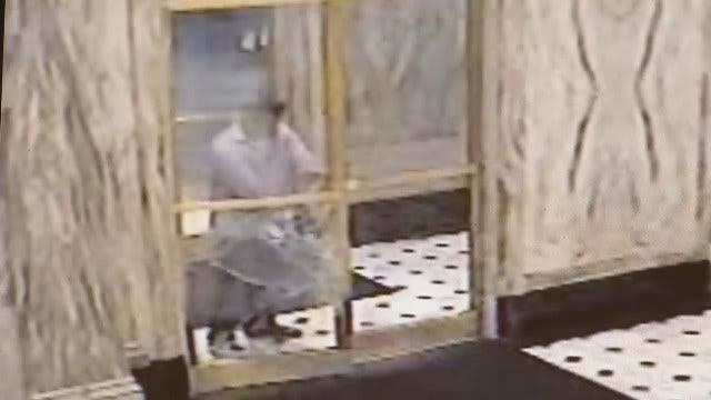 WEB EXTRA: Surveillance Video Of Man Kicking Downtown Tulsa Building