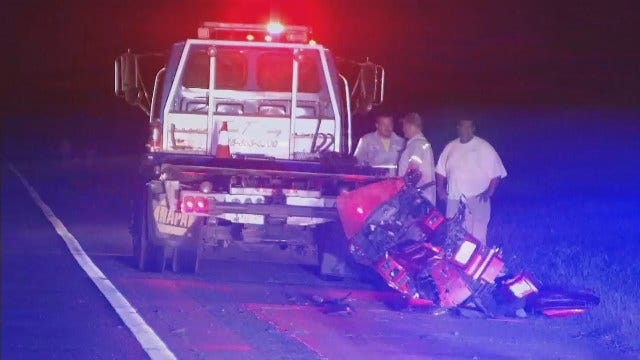 WEB EXTRA: Video From Scene Of Sand Springs Motorcycle Crash