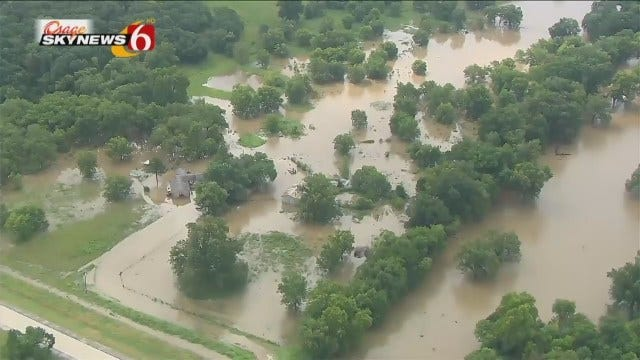 Osage SkyNews 6 HD Flies Over Flooding In Okmulgee, Muskogee Counties