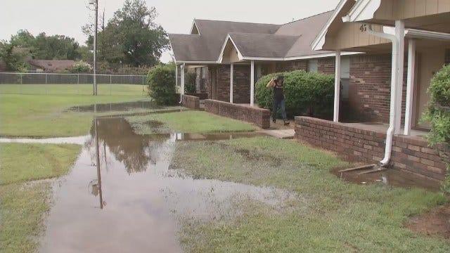 WEB EXTRA: Flooding Damage Inside Okmulgee Apartments