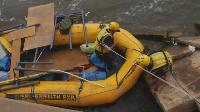 WEB EXTRA: Video Of The Rafters' Rescue At The Low Water Dam