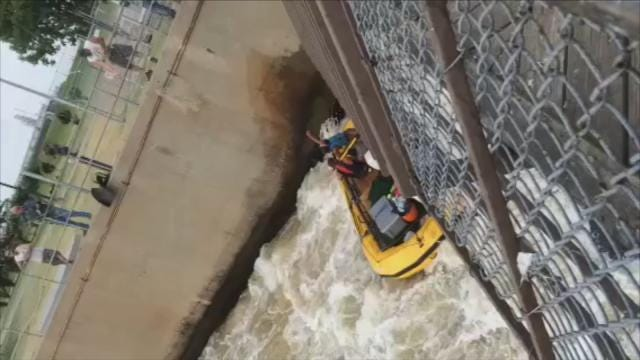 WEB EXTRA: Cell Phone Video Of Arkansas River Rafters In Trouble