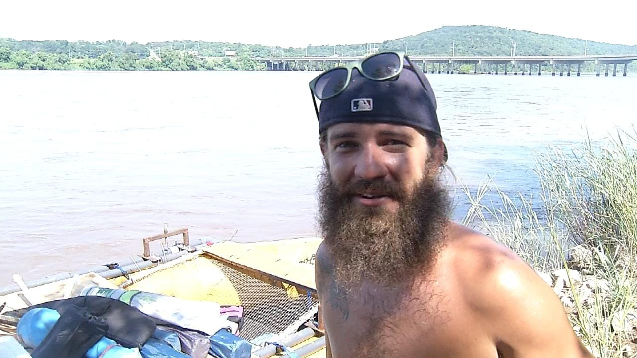 WEB EXTRA: Interview With Arkansas River Rafter Headed To Mississippi River