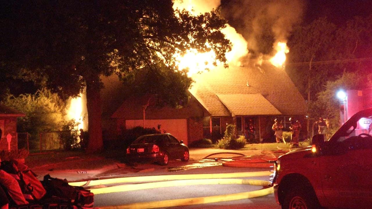 South Tulsa Home Badly Damaged By Overnight Fire