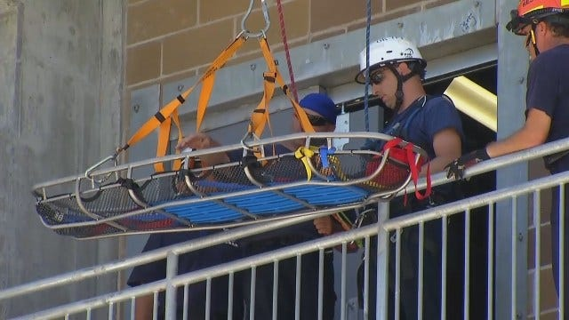 WEB EXTRA: Tulsa Firefighters Train At TCC's New Facility