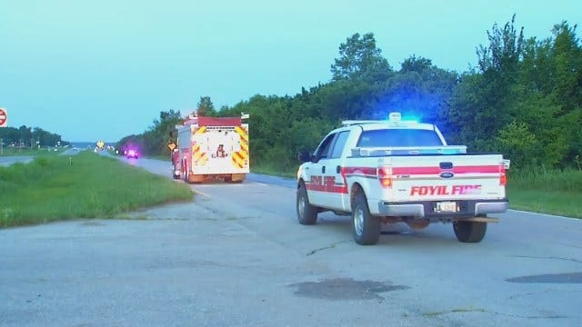 WEB EXTRA: Video From Scene Of Fatal Crash On Highway 66 In Rogers County.