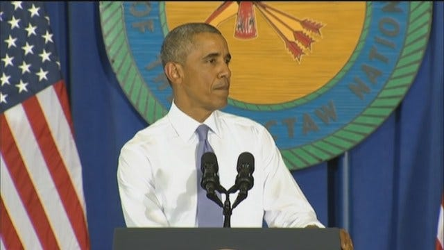 WEB EXTRA: President Obama Speaks In Durant Part 2
