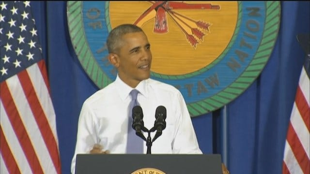 WEB EXTRA: President Obama Speaks In Durant Part 1